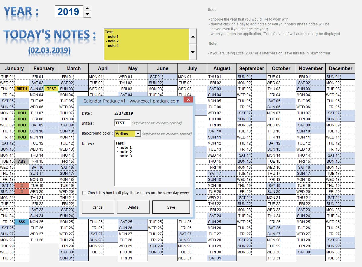 annual-calendar-excel - calendar pratique