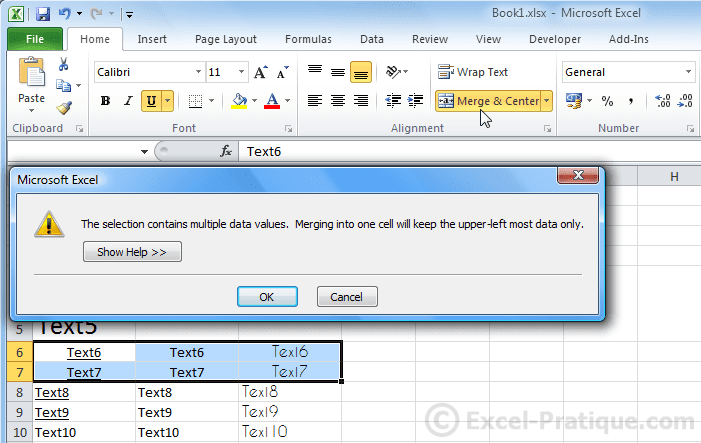 merge cells - excel basics3