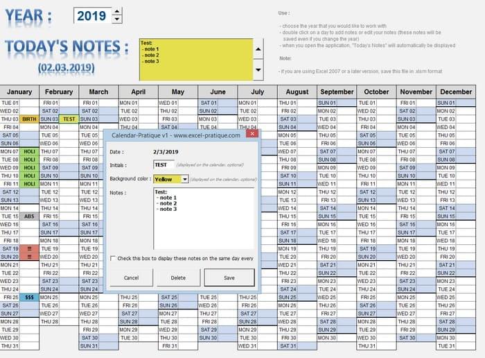 calendar excel billing database2