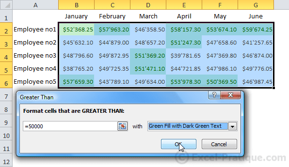 cf greater than excel conditional formatting