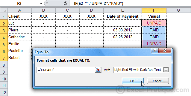 cf unpaid excel conditional formatting examples