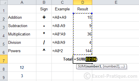 sum function excel formulas calculations functions