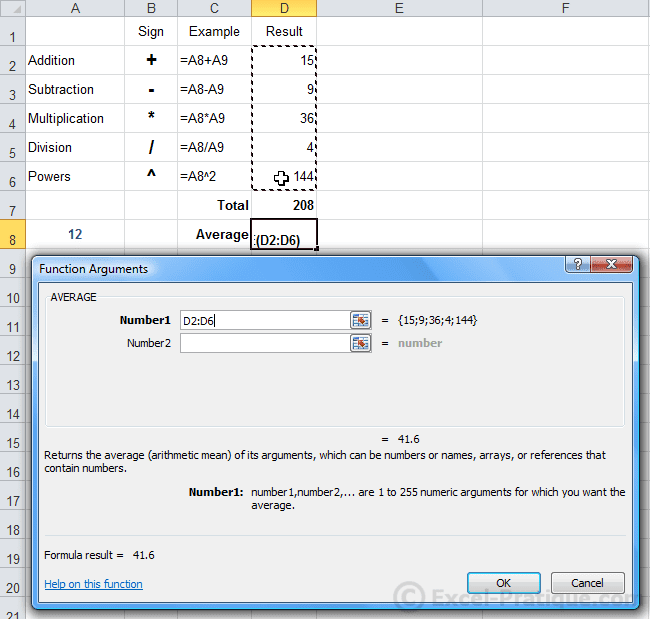 window average function excel formulas calculations functions