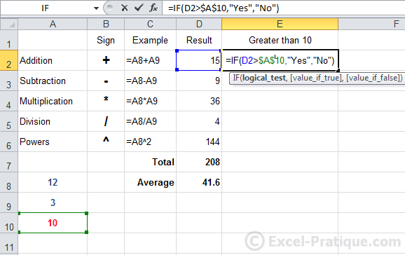 dollar excel if function copying formulas