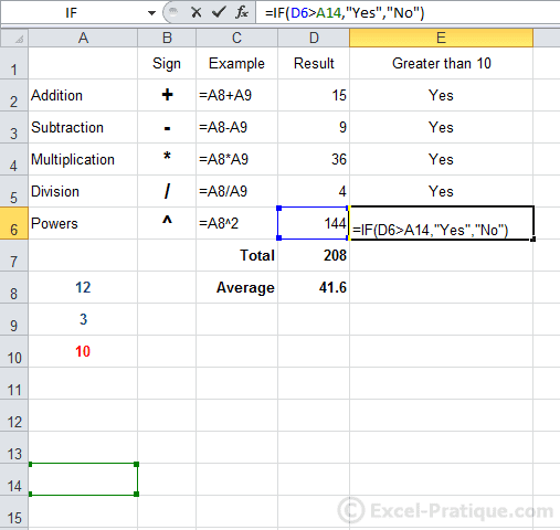 Excel Course: IF Function, Copying Formulas