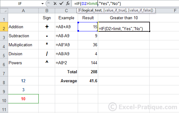 If formula in excel 2007 with example formula