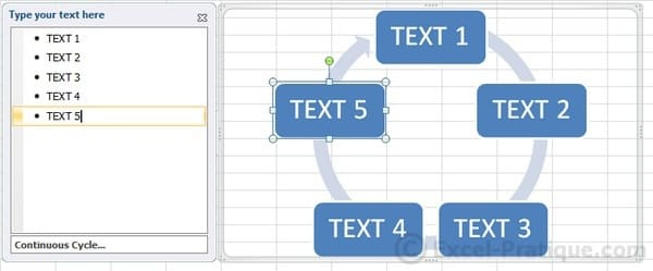 texts - excel inserting smartart