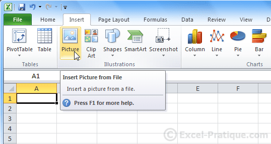 insert picture - excel inserting wordart images
