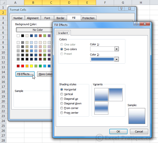 table background color - excel table colors styles