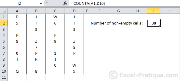 Excel Function Counta