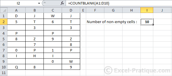 countblank - countblank