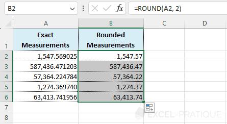 round autofill - round