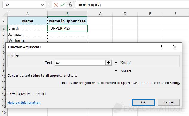 upper function - upper
