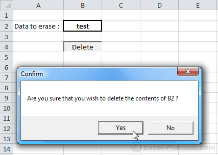 confirmation dialog boxes