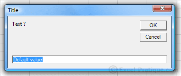 input2 dialog boxes