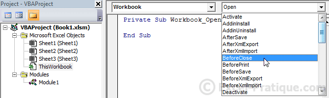 VBA Course: Workbook Events