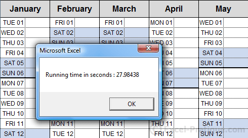 Vba Excel Time A Macro