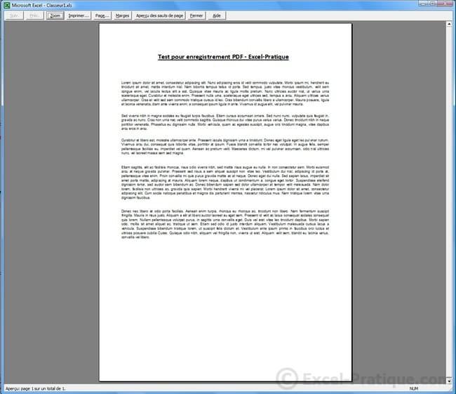 apercu - enregistrer pdf