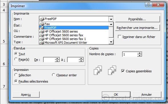 imprimer - enregistrer pdf