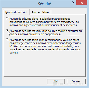 2002 niveau securite - activer les macros