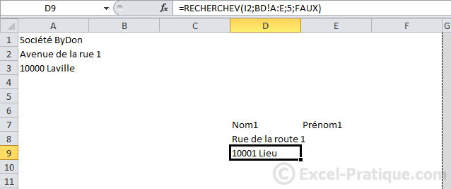 donnees - excel base de donnees facturation