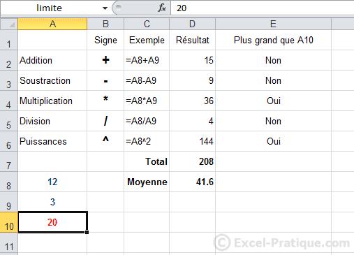 changement limite - excel fonction si recopie formules