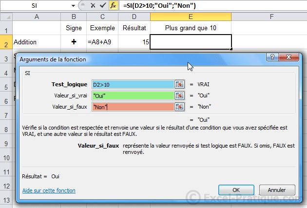 fenetre fonction si - excel fonction si recopie formules