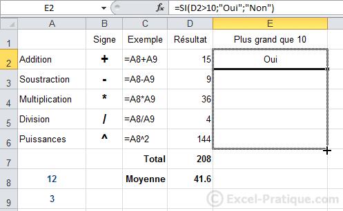 recopie fonction si - excel fonction si recopie formules
