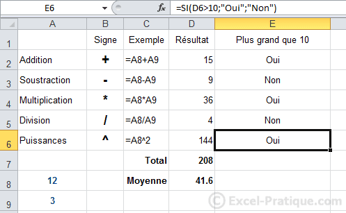 resultat apres recopie - excel fonction si recopie formules