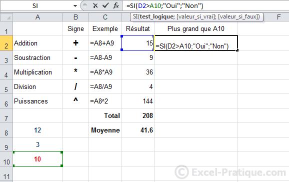 utilisation limite - excel fonction si recopie formules