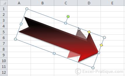 modifier epaisseurs - excel insertion formes