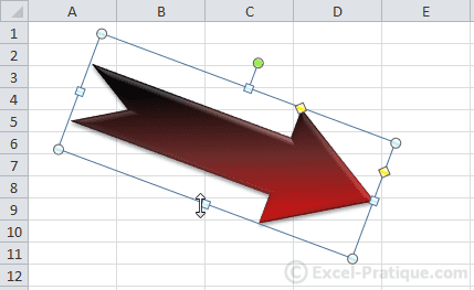 modifier largeur hauteur - excel insertion formes