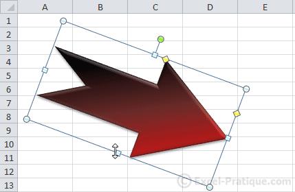 modifier largeur hauteur2 - excel insertion formes