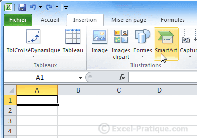 insertion smartart - excel insertion smartart