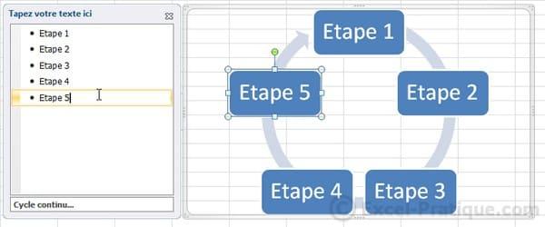 textes - excel insertion smartart