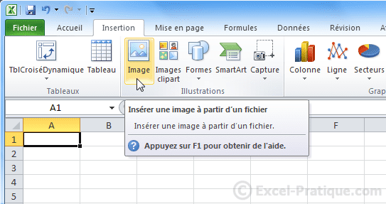 insertion image excel wordart images