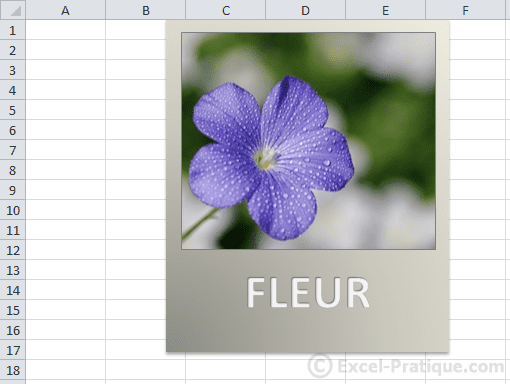 personnalisation excel insertion wordart images