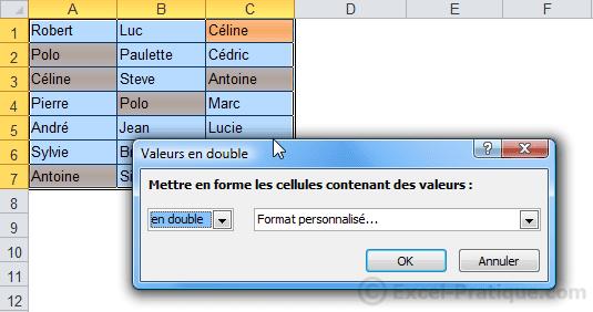 fenetre mfc doublons - excel mises en forme conditionnelles exemples