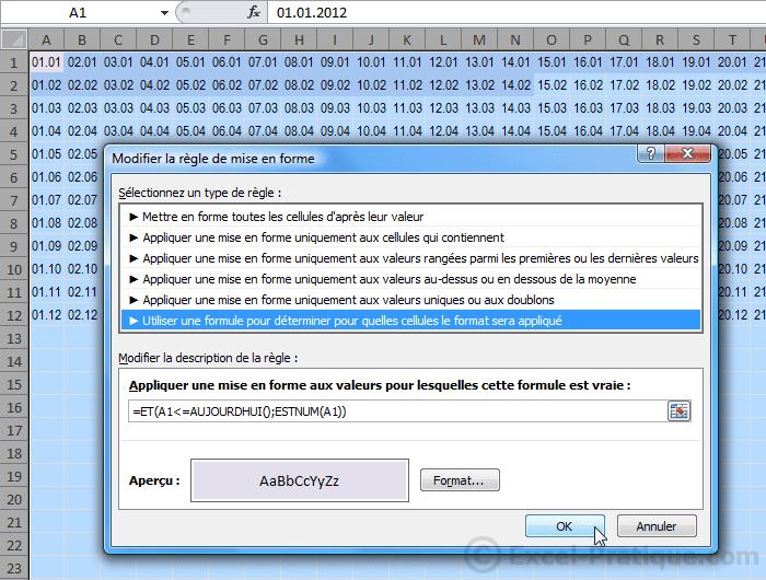 mfc dates - excel mises en forme conditionnelles exemples3