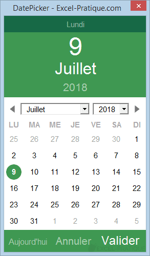 excel datepicker aujourdhui date picker