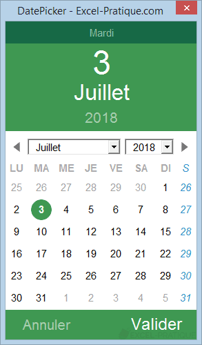 excel datepicker semaine iso date picker