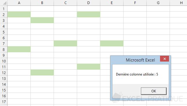excel vba derniere colonne utilisee last used col