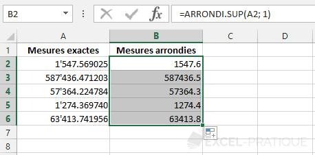 fonction-excel-arrondi-sup-nombre-etire - arrondi sup