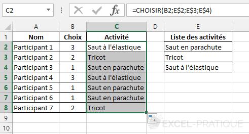 fonction-excel-choisir-activites - choisir