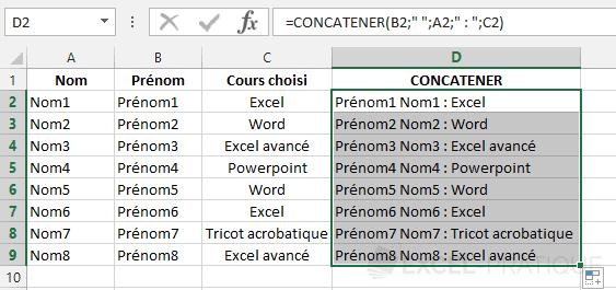 fonction excel assembler texte concatener