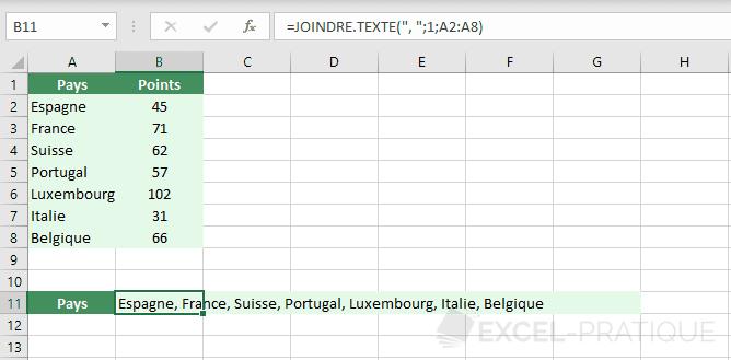 excel fonction joindre texte