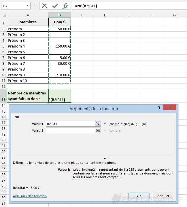 fonction-excel-nb-compter-nombres - nb