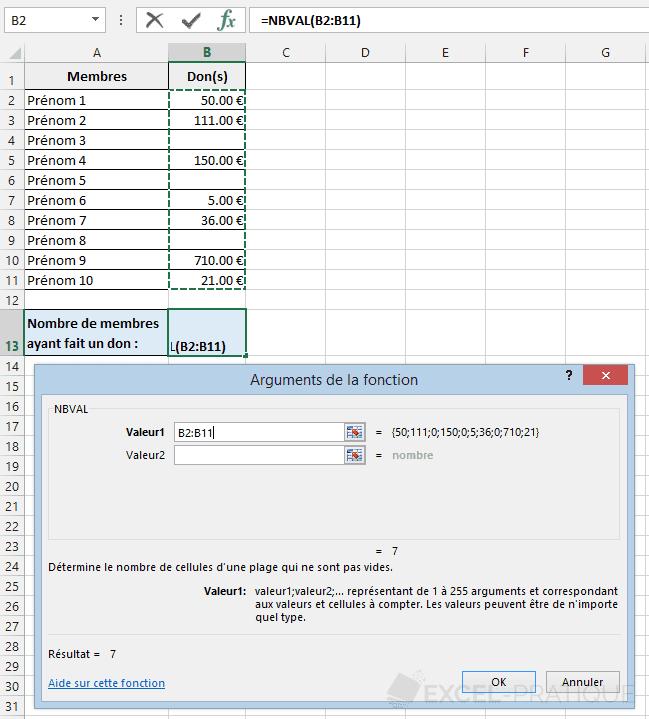 fonction-excel-nbval-compter-nombres - nbval