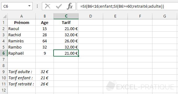 fonction-excel-formule-si-imbriques - si imbriques