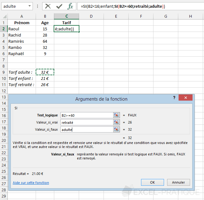 fonction-excel-si-imbrication-3-tarifs - si imbriques